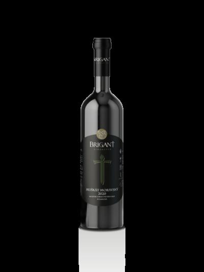 Muškát moravský biele víno polosuché 2020