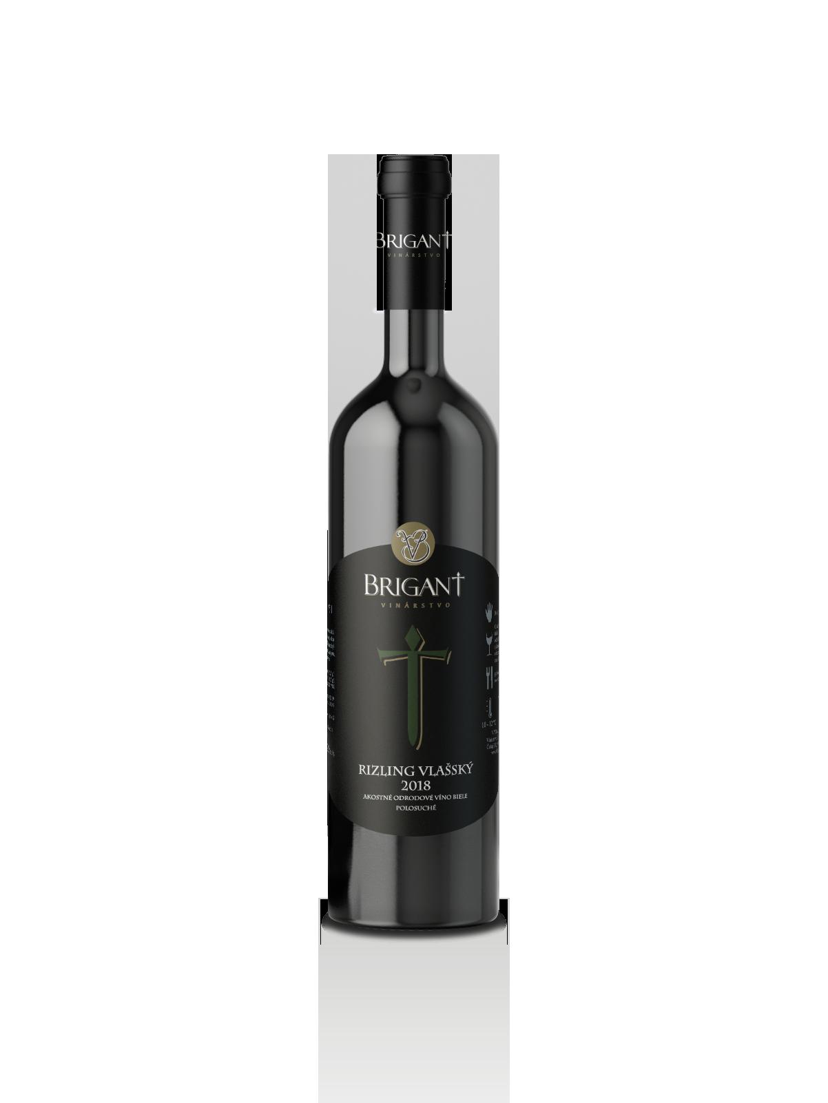 Rizling vlašský biele víno polosuché 2018